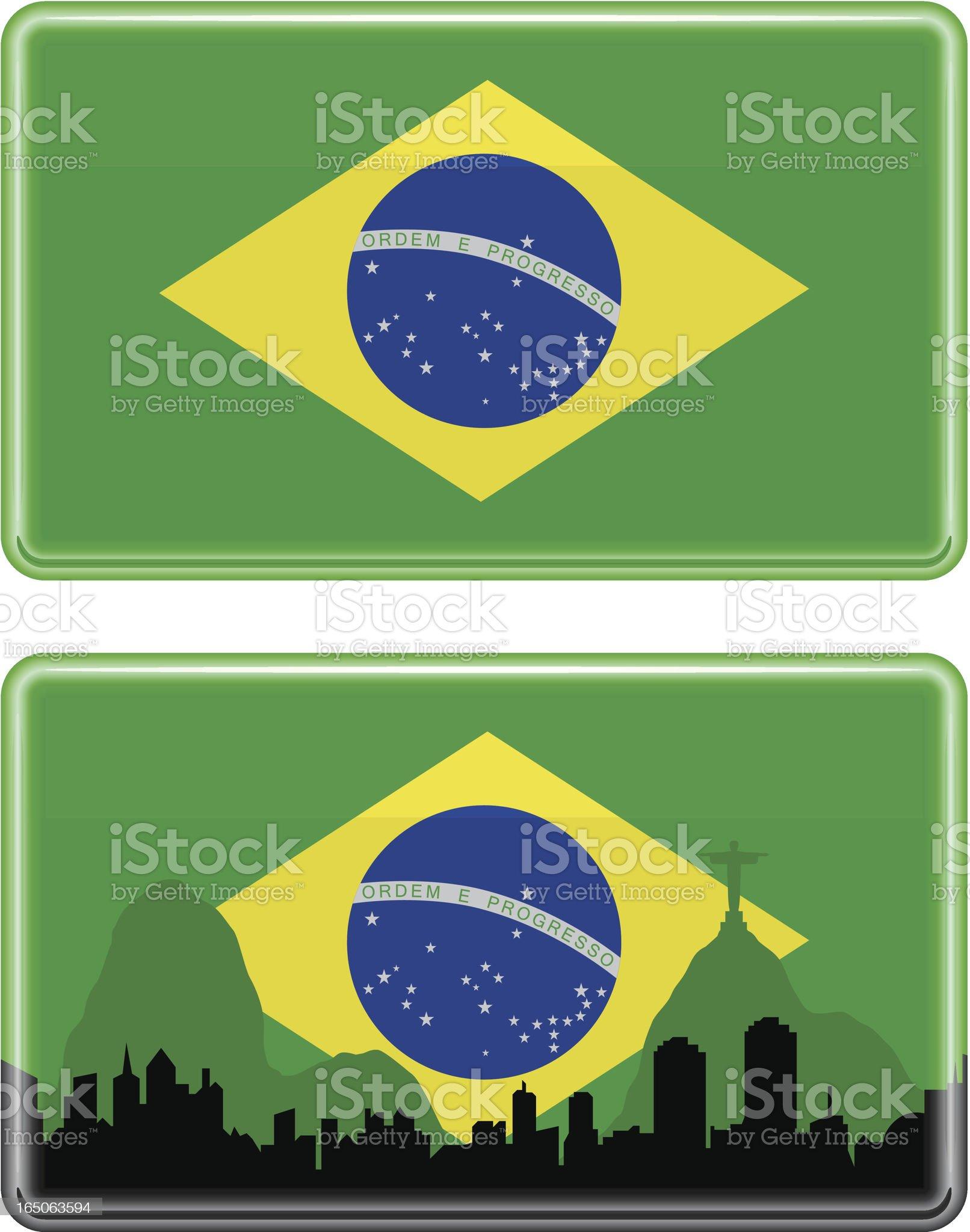 Brazilian Flag royalty-free stock vector art