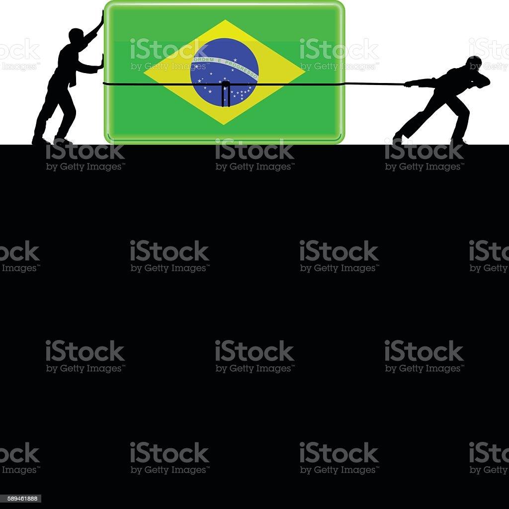 Brazilian Flag vector art illustration