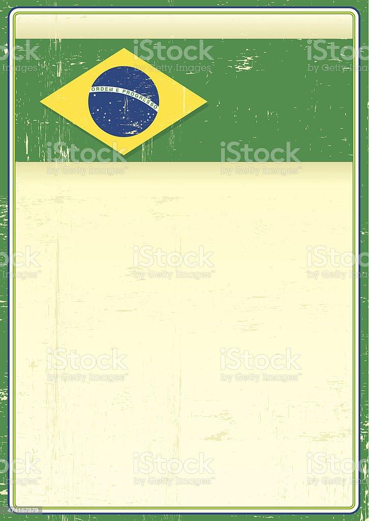 Brazilian grunge poster vector art illustration