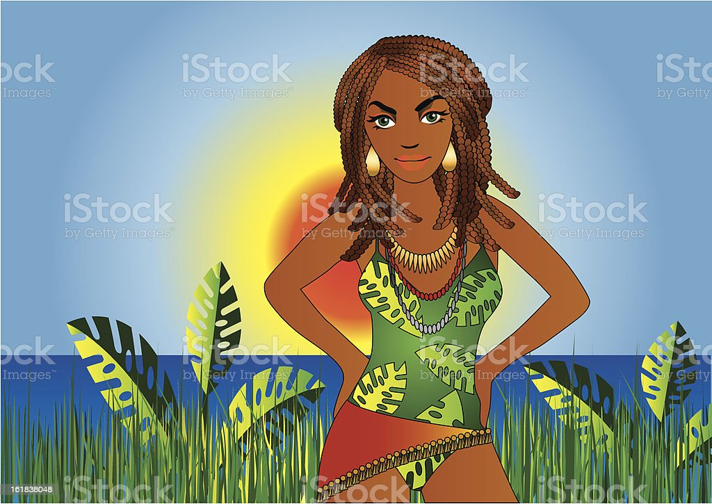 Brazilian Sunset royalty-free stock vector art