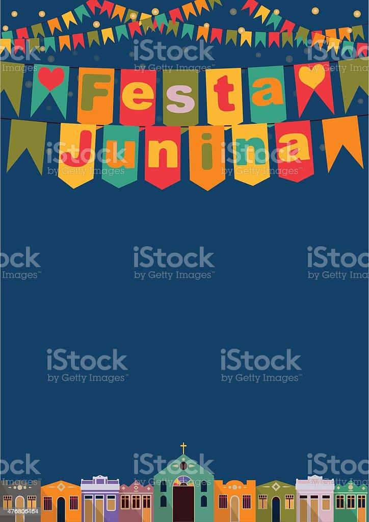 Brazilian the June Festival vector art illustration