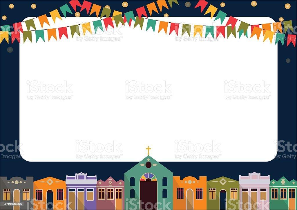 Brazilian the June party vector art illustration