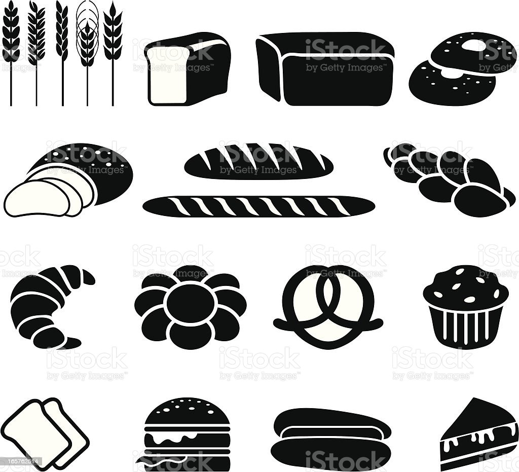 Bread and bakery vector art illustration
