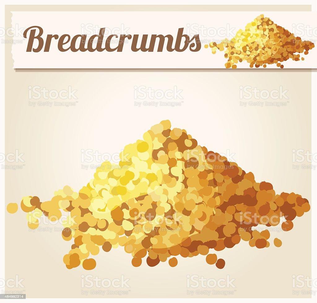 Bread crumbs. Detailed Vector Icon vector art illustration