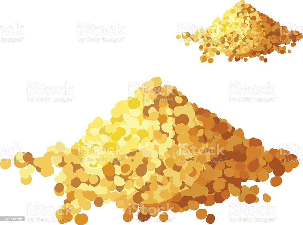 Bread crumbs isolated on white background. Detailed Vector Icon vector art illustration