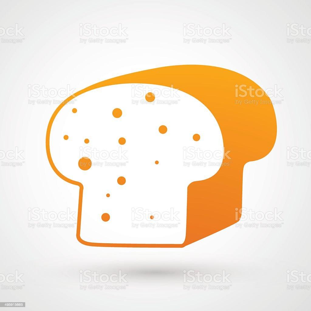 Bread icon vector art illustration