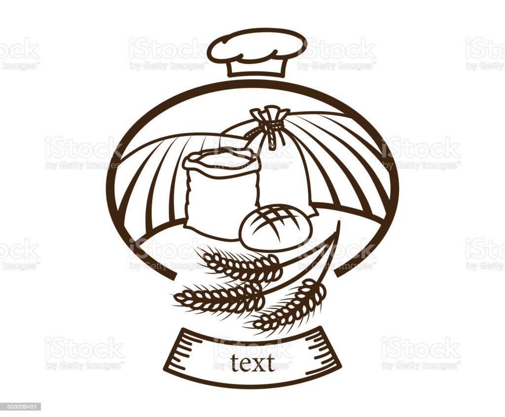 bread logo royalty-free stock vector art