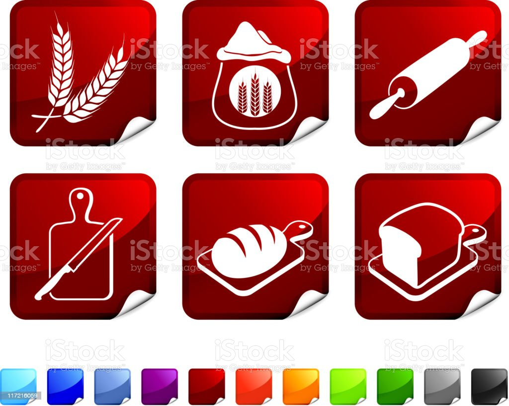 Bread making royalty free vector icon set royalty-free stock vector art