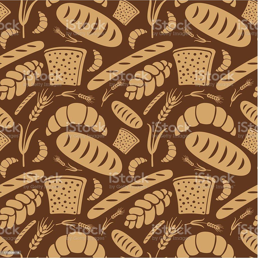 bread pattern royalty-free stock vector art