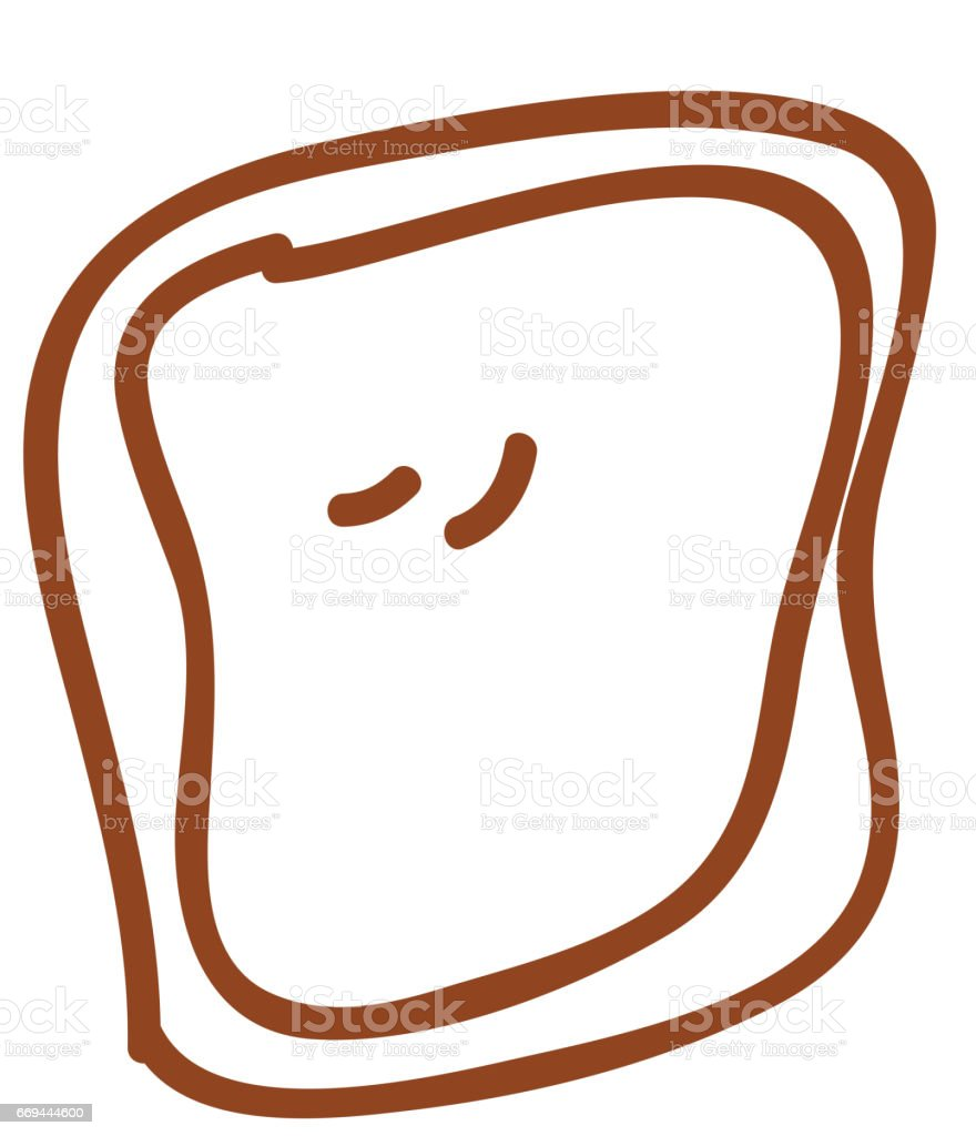bread slice isolated icon vector art illustration