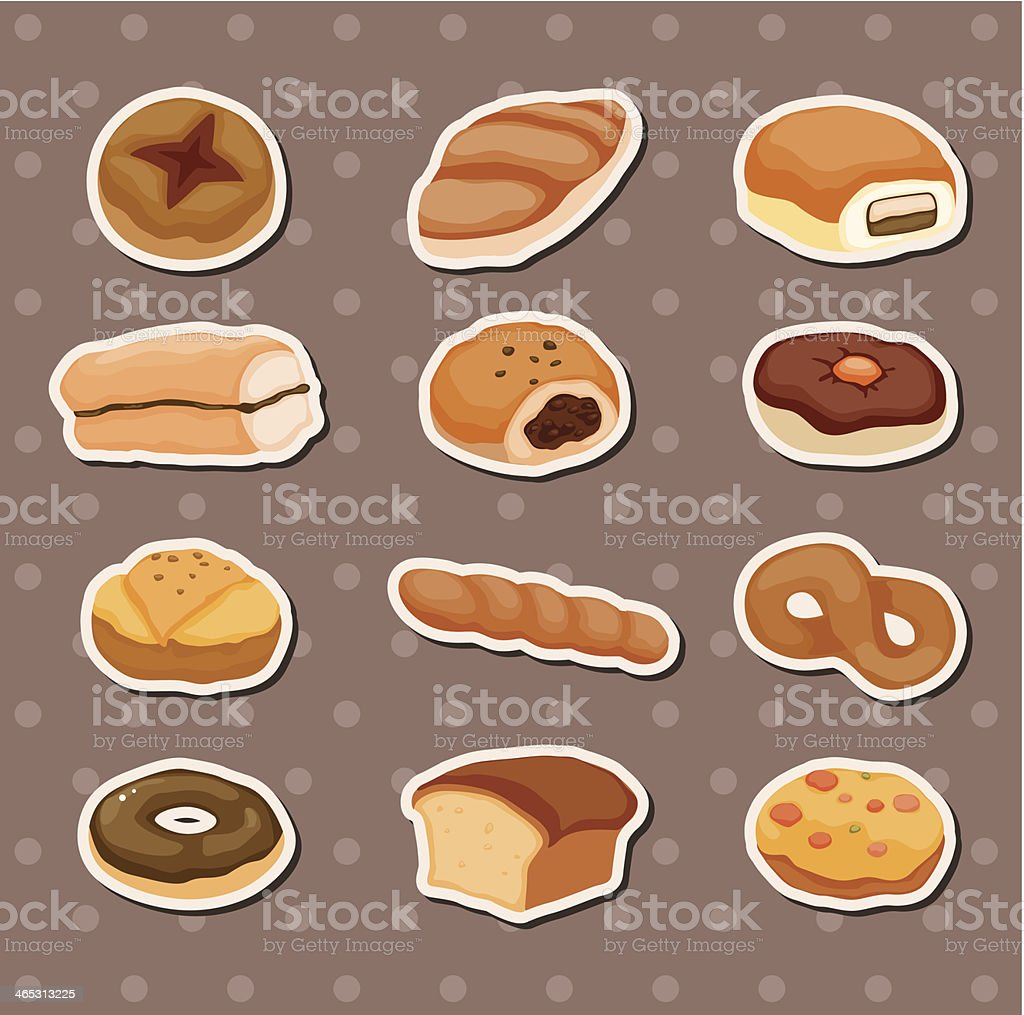 bread stickers royalty-free stock vector art