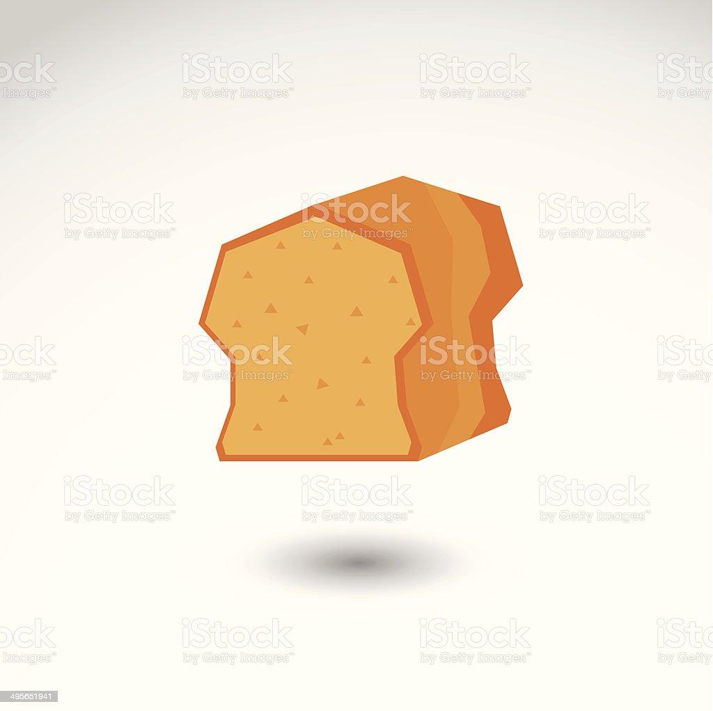 bread toast flat vector icon vector art illustration