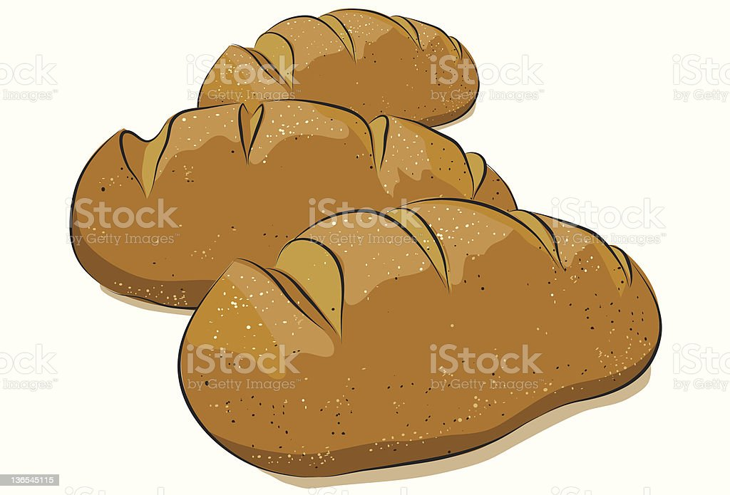 Bread royalty-free stock vector art