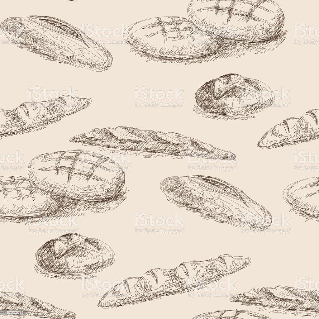 bread vector art illustration