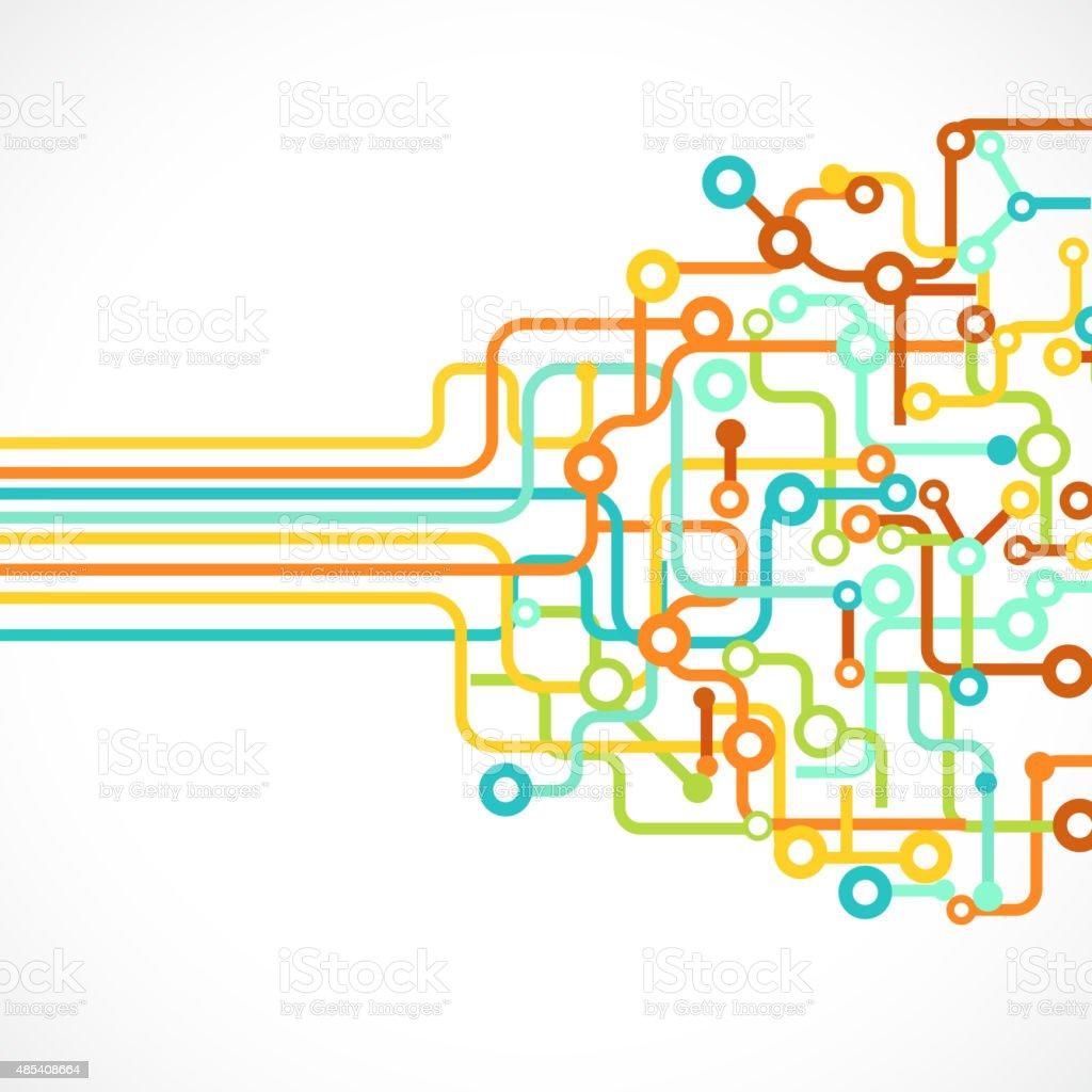 breadboard background for design vector art illustration