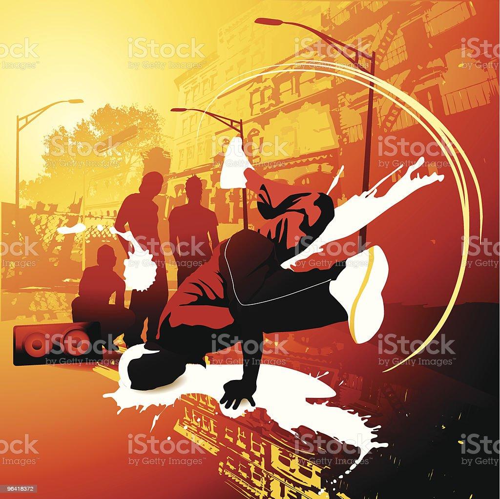 Break dance superstar vector art illustration
