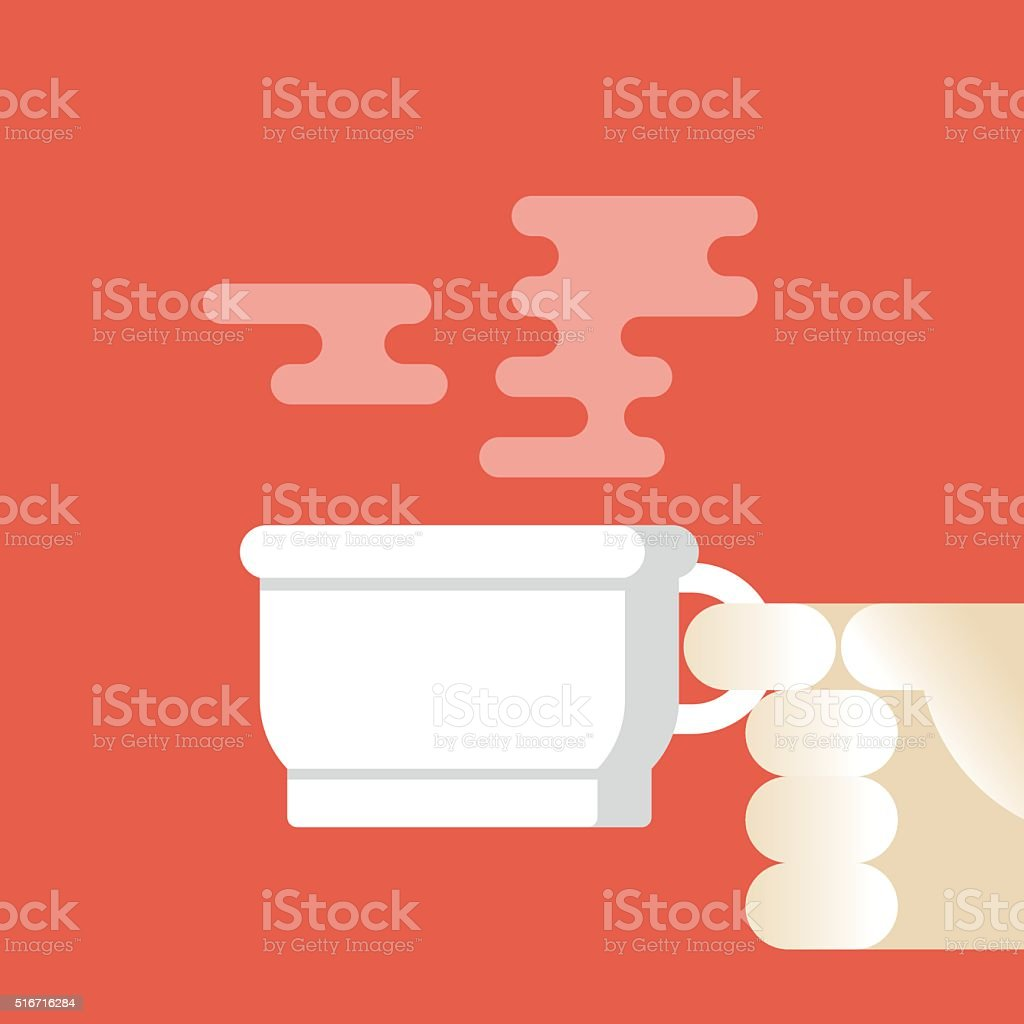 break for a cup of coffee vector art illustration