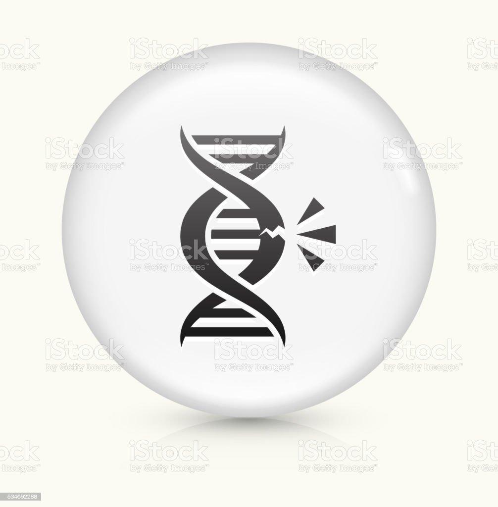 DNA Break icon on white round vector button vector art illustration