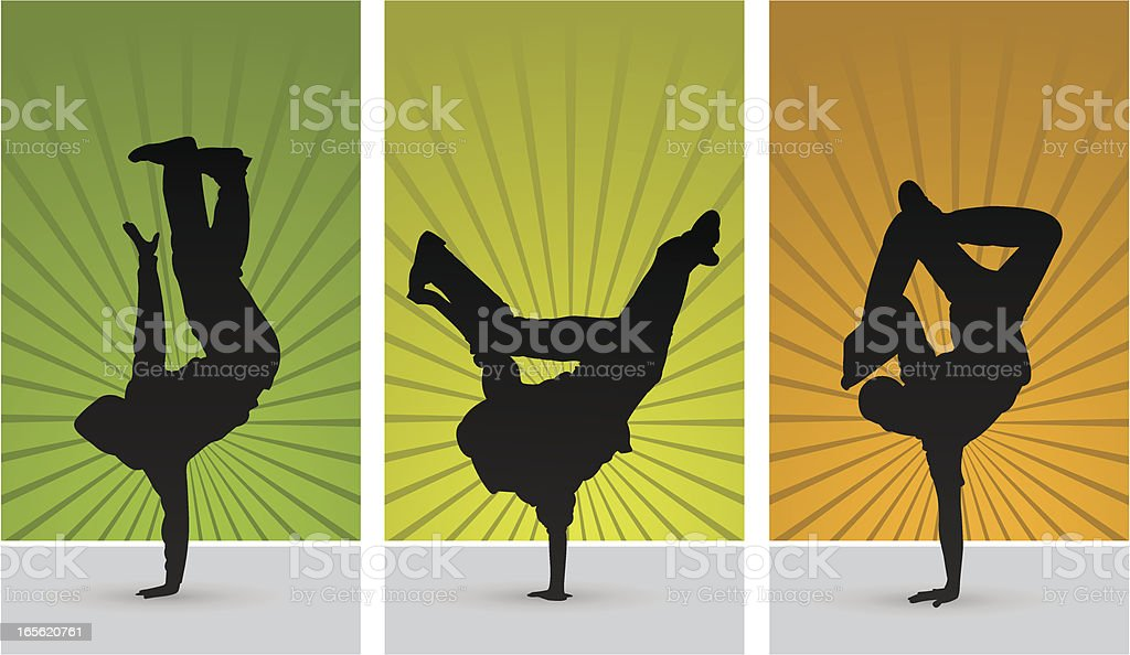 breakdance vector art illustration