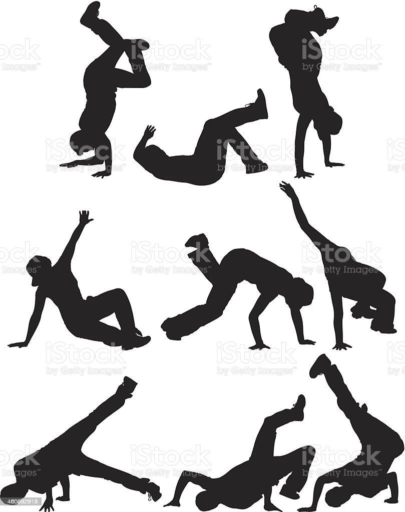 Breakdancer royalty-free stock vector art
