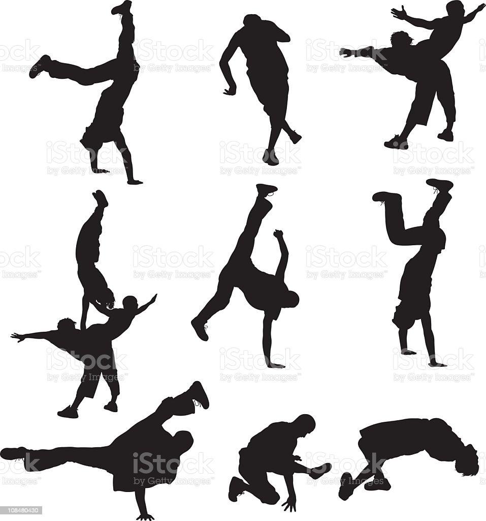 Breakdancing vector art illustration