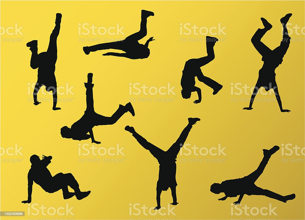 Breakdancing royalty-free stock vector art