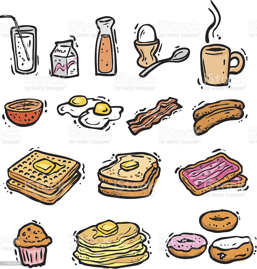Breakfast Bonus Pack (vectors) vector art illustration