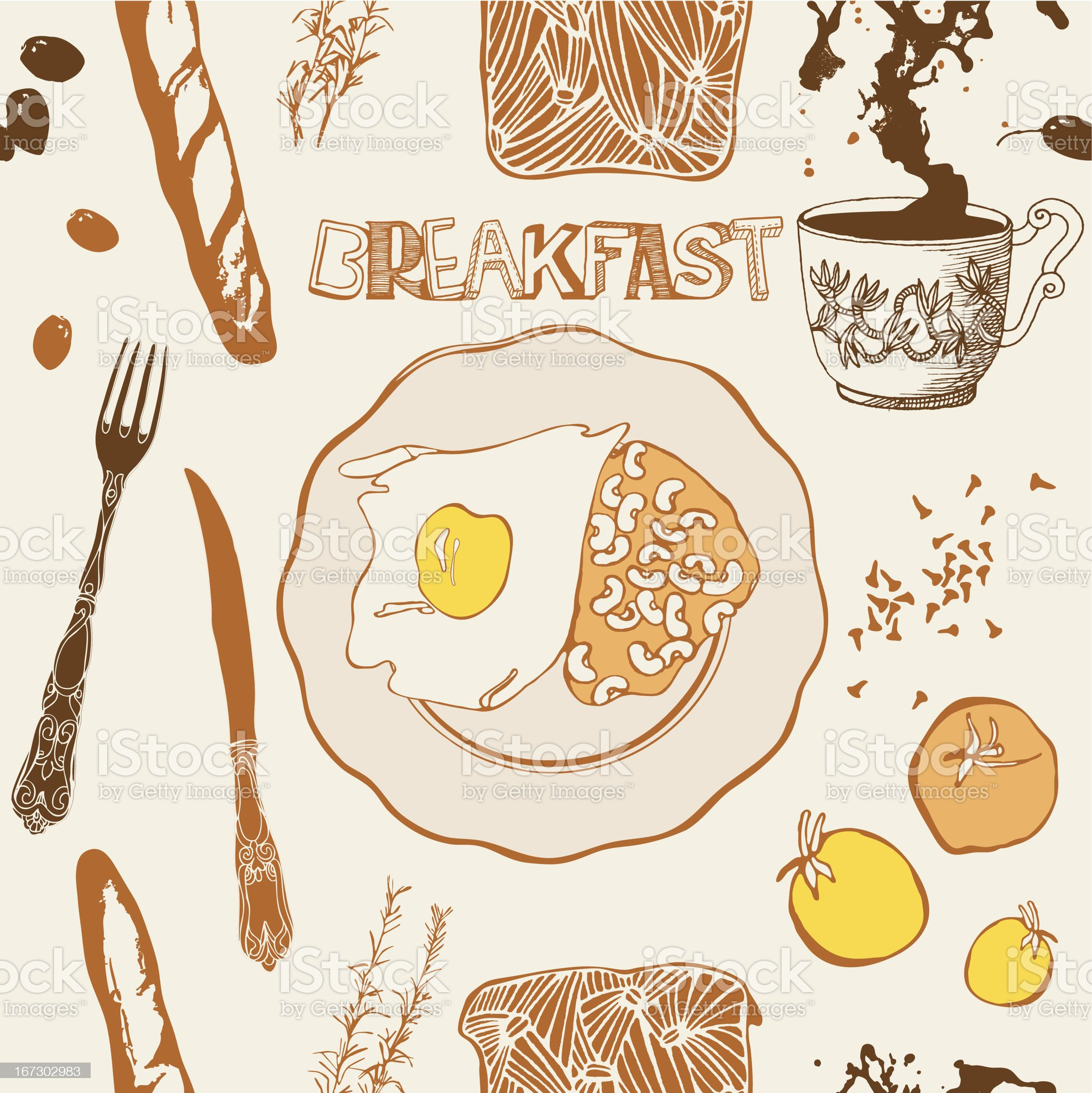 Breakfast card. royalty-free stock vector art
