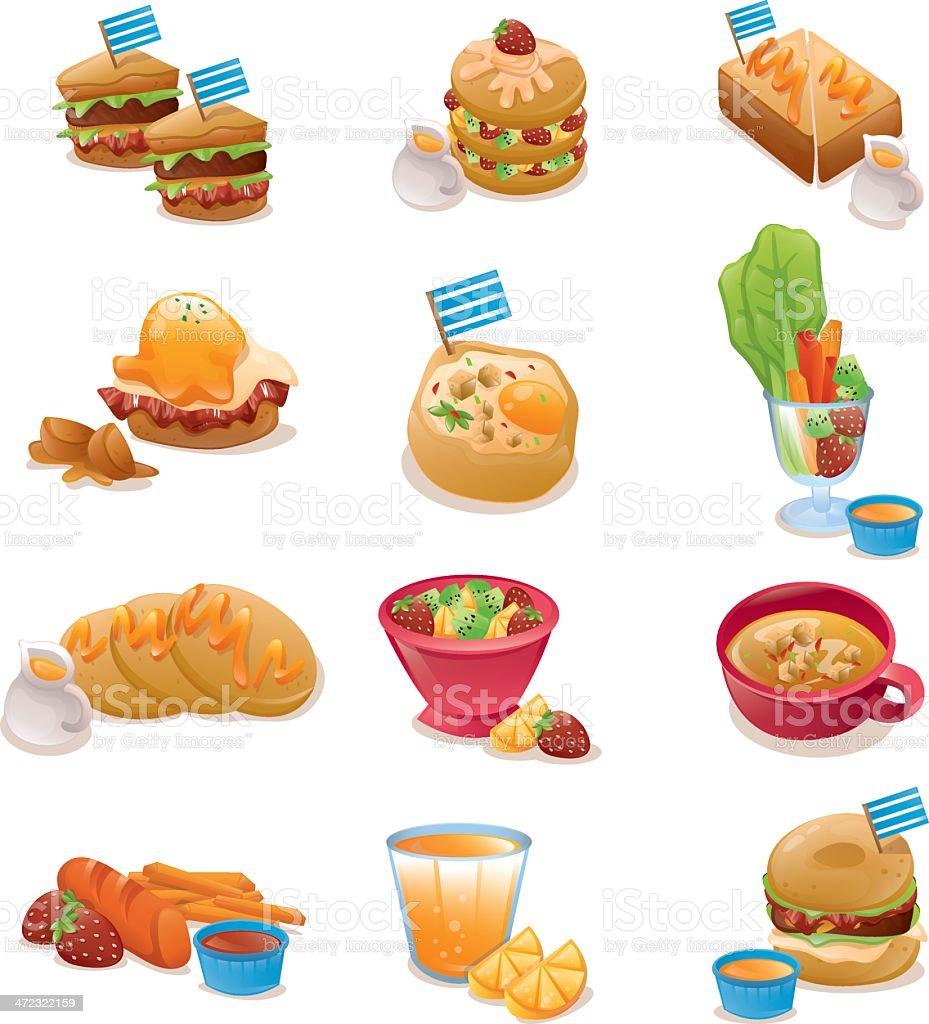 Breakfast Design Elements Set royalty-free stock vector art
