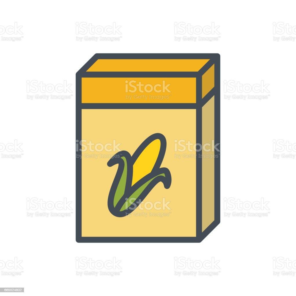 Breakfast Food Colored Icon Kelpo Cereal vector art illustration
