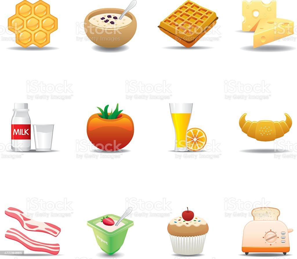 Breakfast Food Icon Set | Elegant Series royalty-free stock vector art