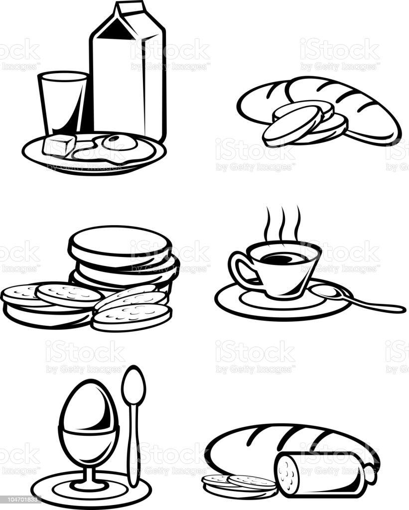 Breakfast food royalty-free stock vector art