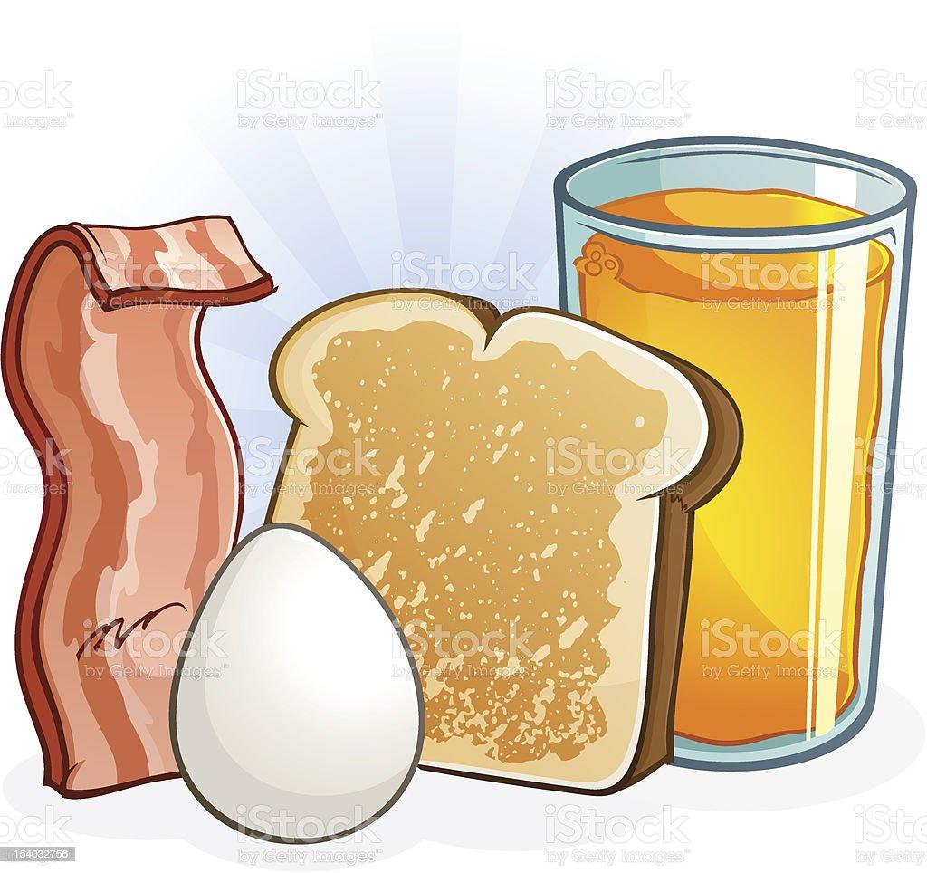 Breakfast Food vector art illustration