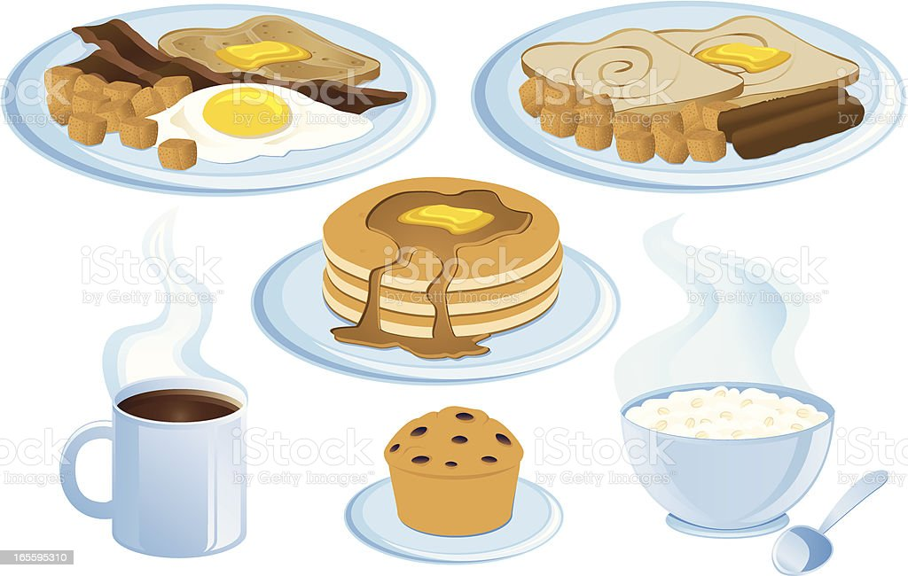 Breakfast food royalty-free stock vector art