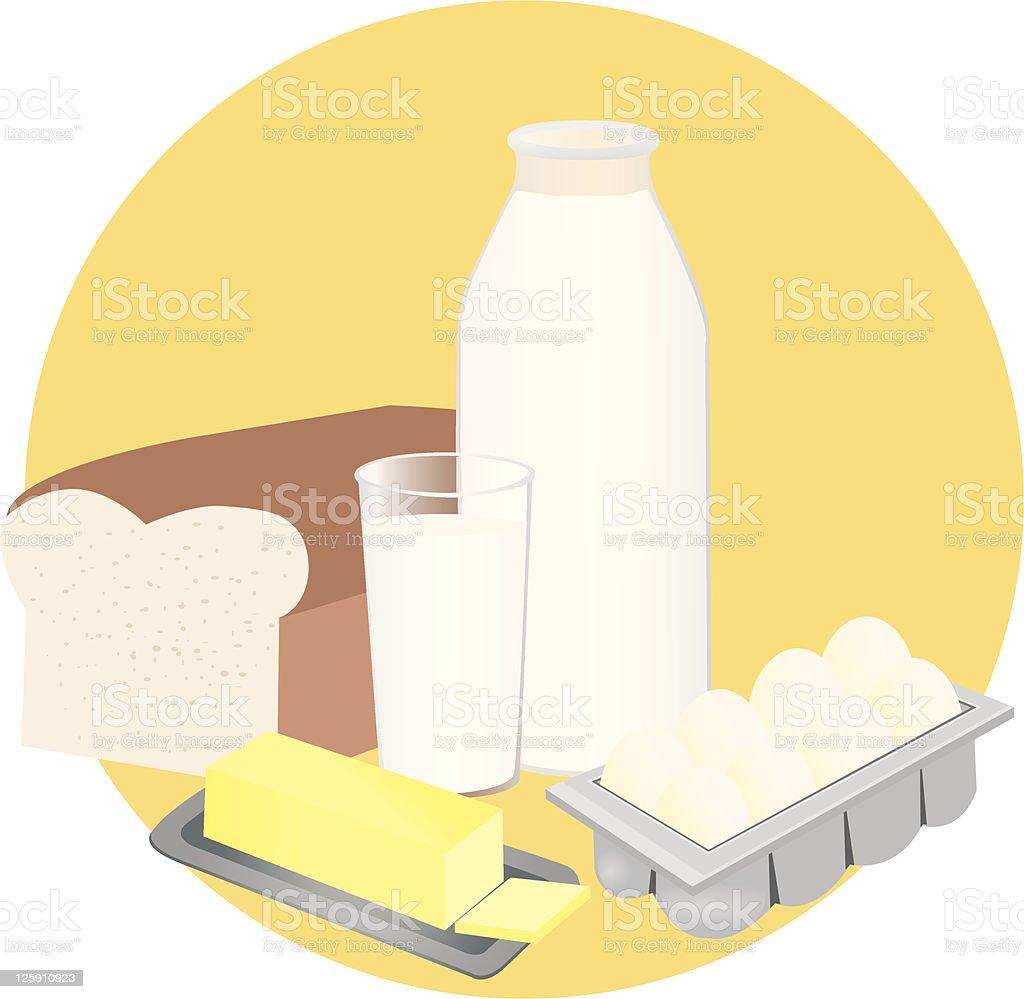 Breakfast Foods royalty-free stock vector art