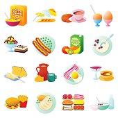 Breakfast gradient icon 4x4