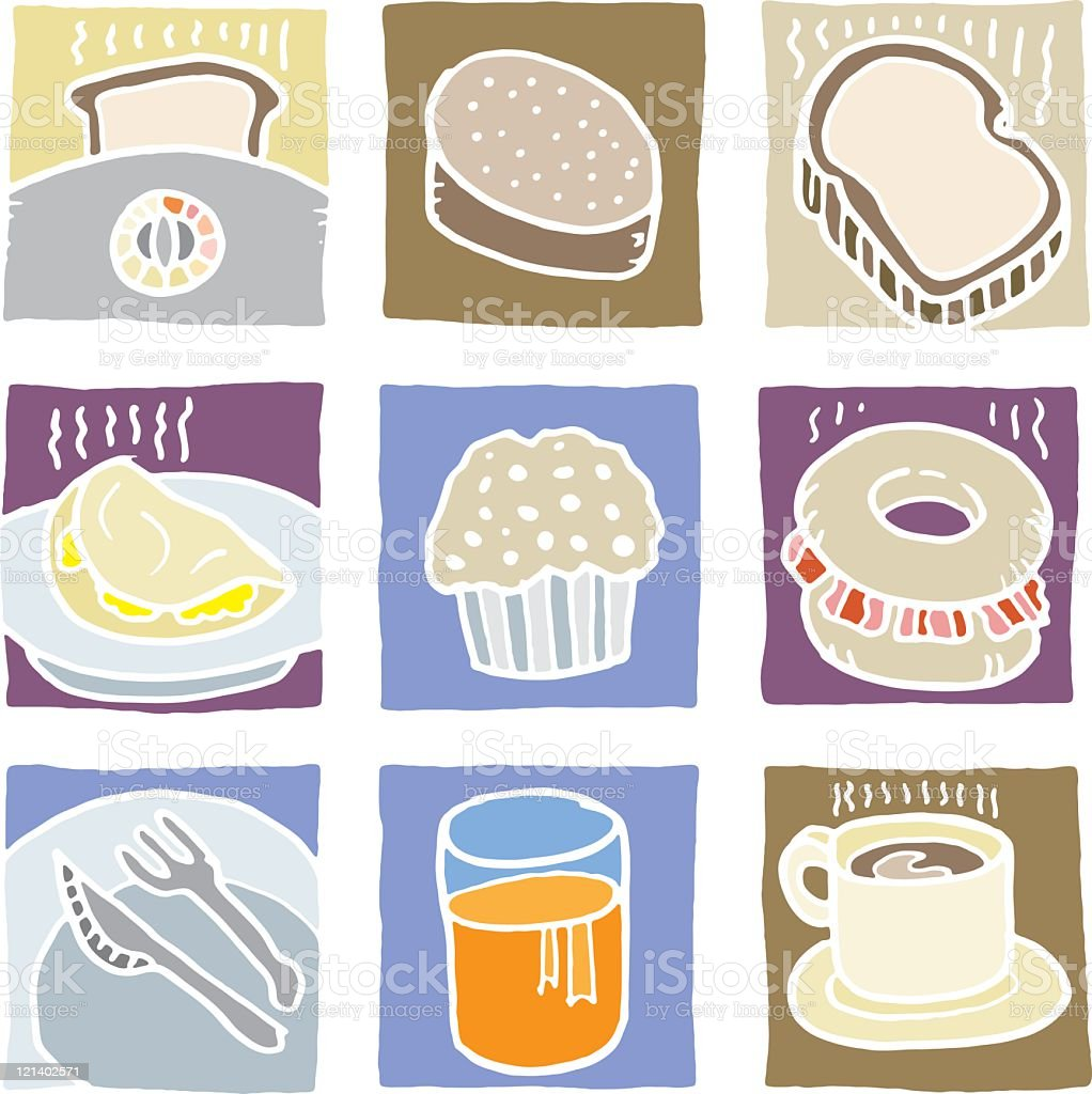 Breakfast Icon set royalty-free stock vector art