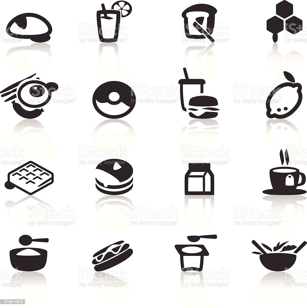 Breakfast icon vector art illustration