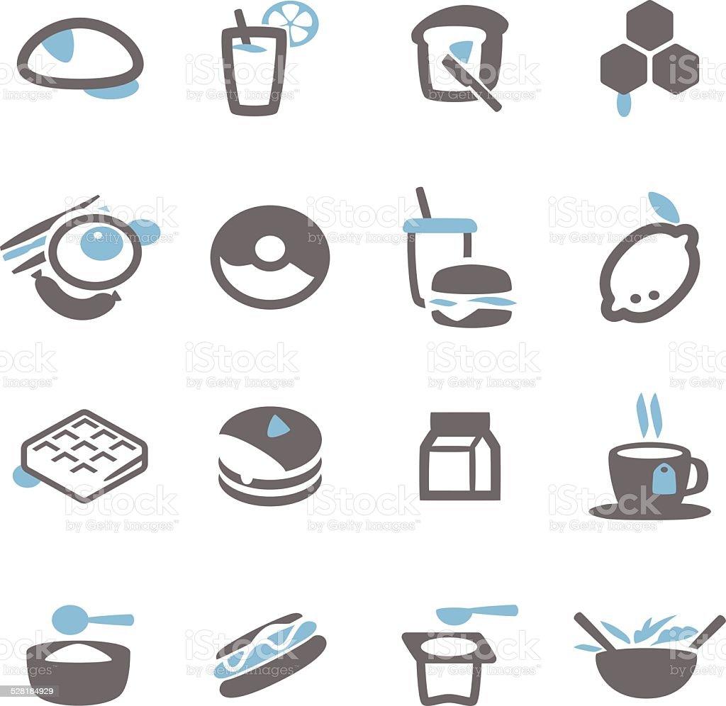 Breakfast icon vector art illustration