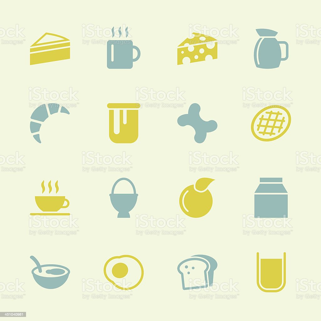 Breakfast Icons - Color Series | EPS10 royalty-free stock vector art