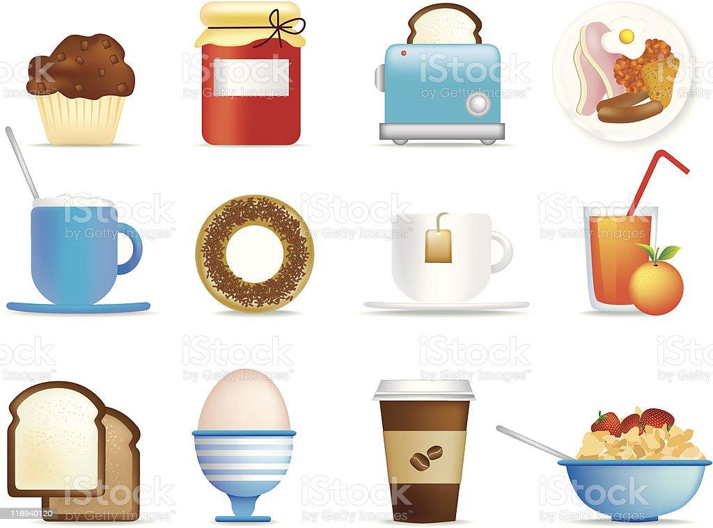 breakfast icons royalty-free stock vector art