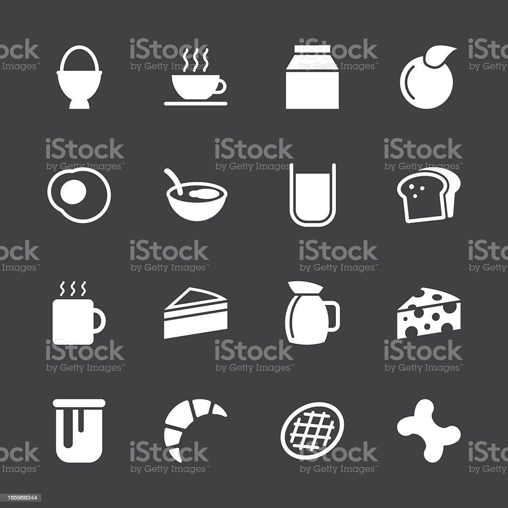 Breakfast Icons - White Series | EPS10 vector art illustration