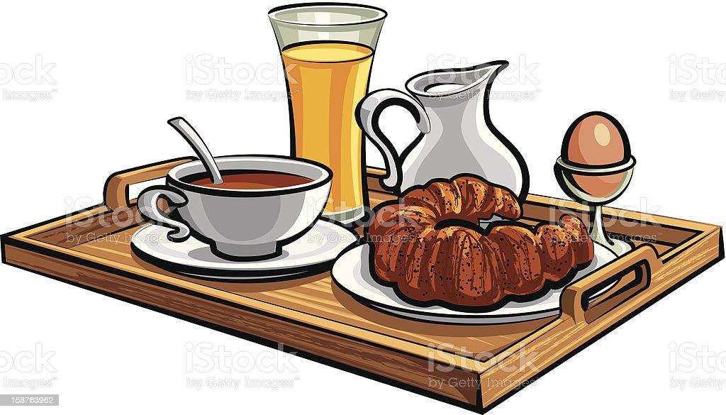 breakfast in a hotel room royalty-free stock vector art