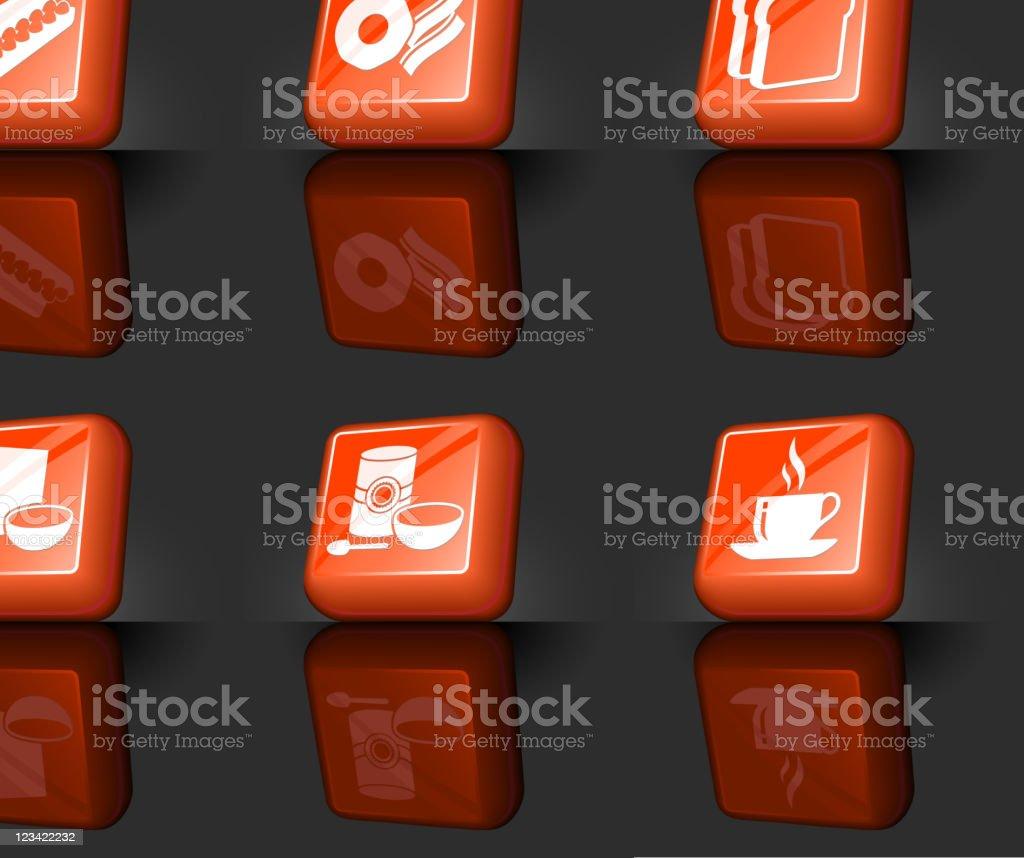 breakfast internet royalty free vector icon set royalty-free stock vector art