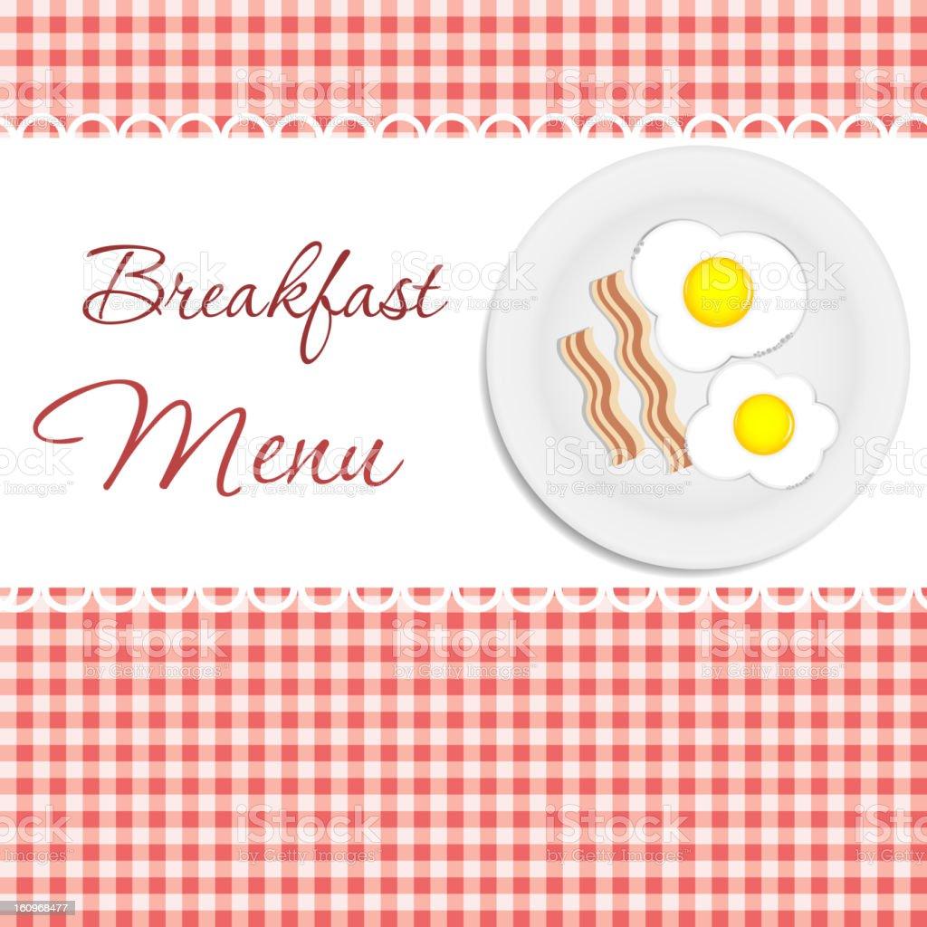 Breakfast menu  vector illustration royalty-free stock vector art