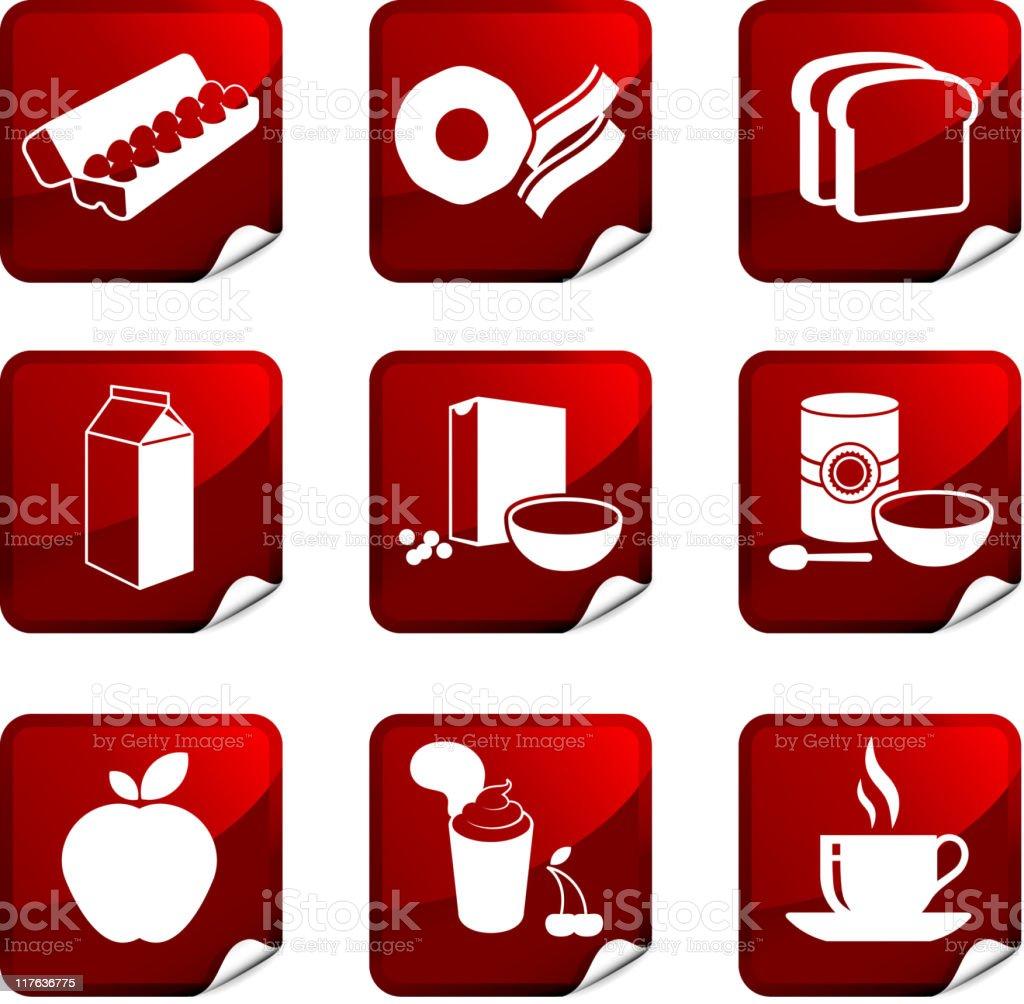 breakfast nine royalty free vector icon set royalty-free stock vector art