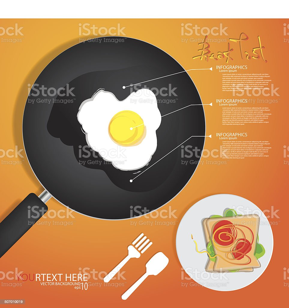 breakfast omelet royalty-free stock vector art