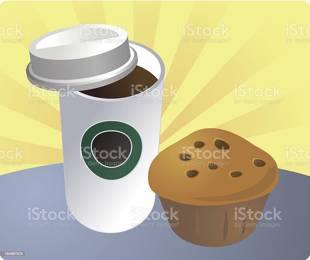 Breakfast on the go royalty-free stock vector art