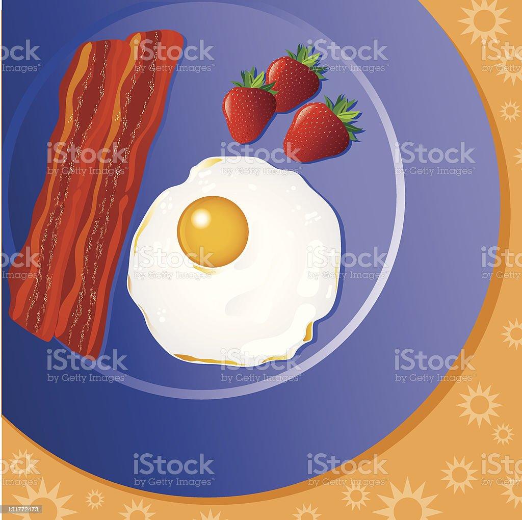 Breakfast Plate royalty-free stock vector art