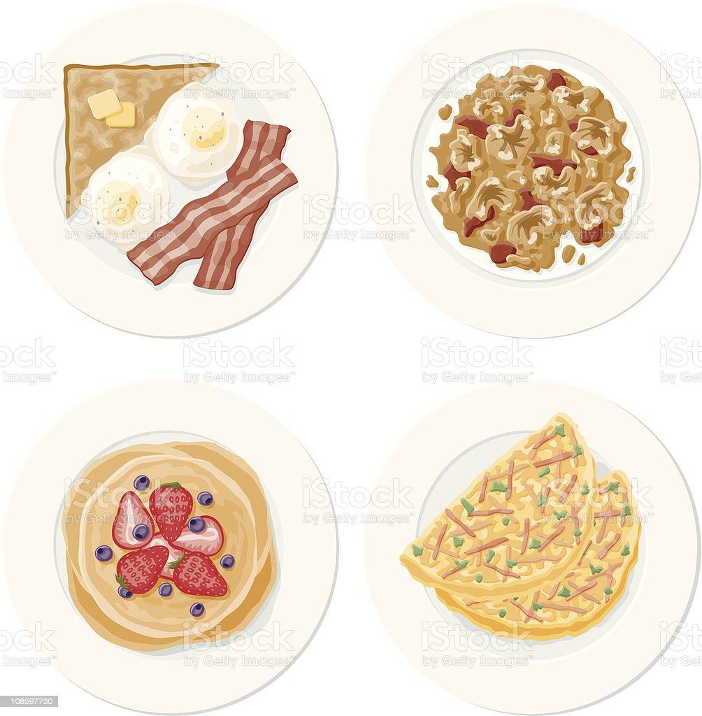 Breakfast Set vector art illustration